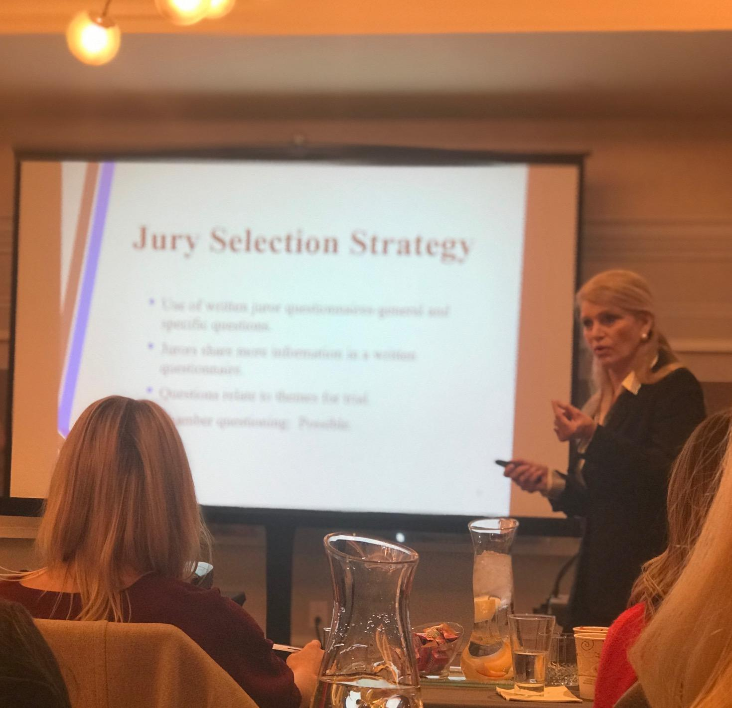 Mona Lisa Wallace Speaks on How to Optimize Jury Verdict For Client